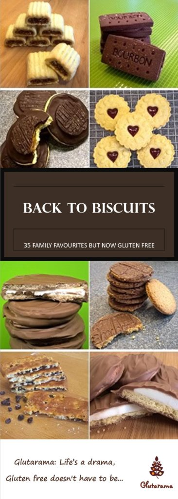 Back to Biscuits: A selection of 35 Family Favourites made Gluten Free, from the classic Bourbon biscuit to the blast from the past Wagon Wheel, this simple to follow recipe book aims to fill your biscuit barrel with the treats you crave and can no longer have.