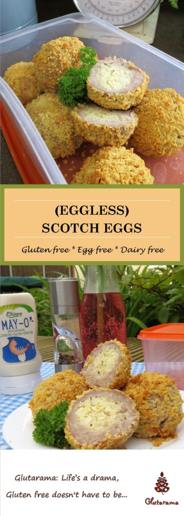 Gluten Free and Egg Free Scotch Eggs #FreeFromPicnics
