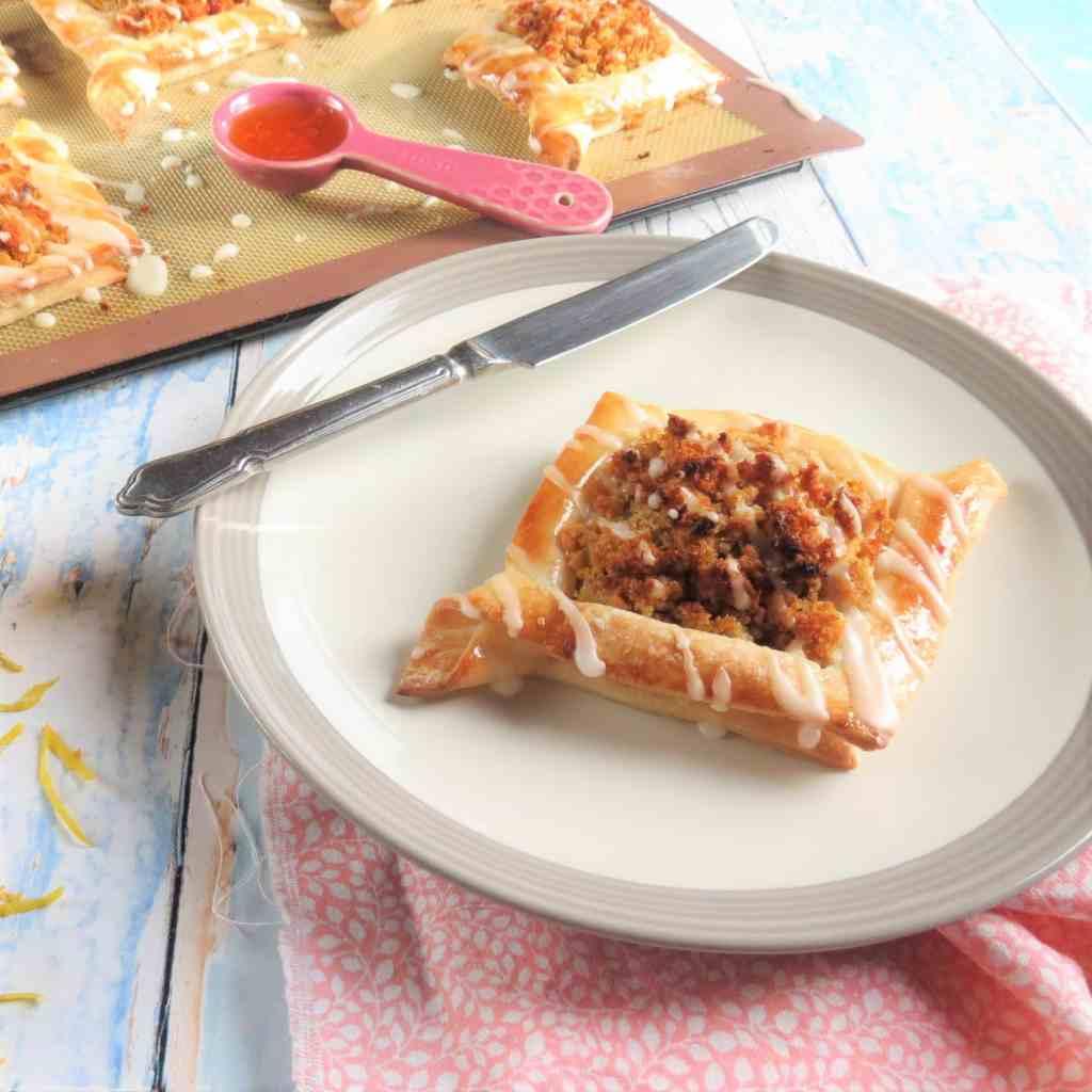 Treacle Tart Danish Pastries; gluten free and vegan