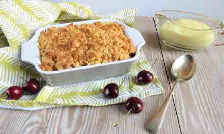 Three Ingredient Cherry Shortbread Crumble
