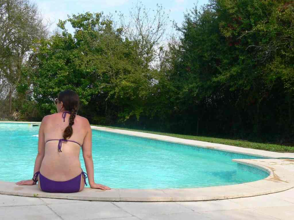 Domaine du Pignoulet; the pool