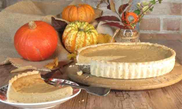 Vegan Pumpkin Pie; with warm spices and gluten free too