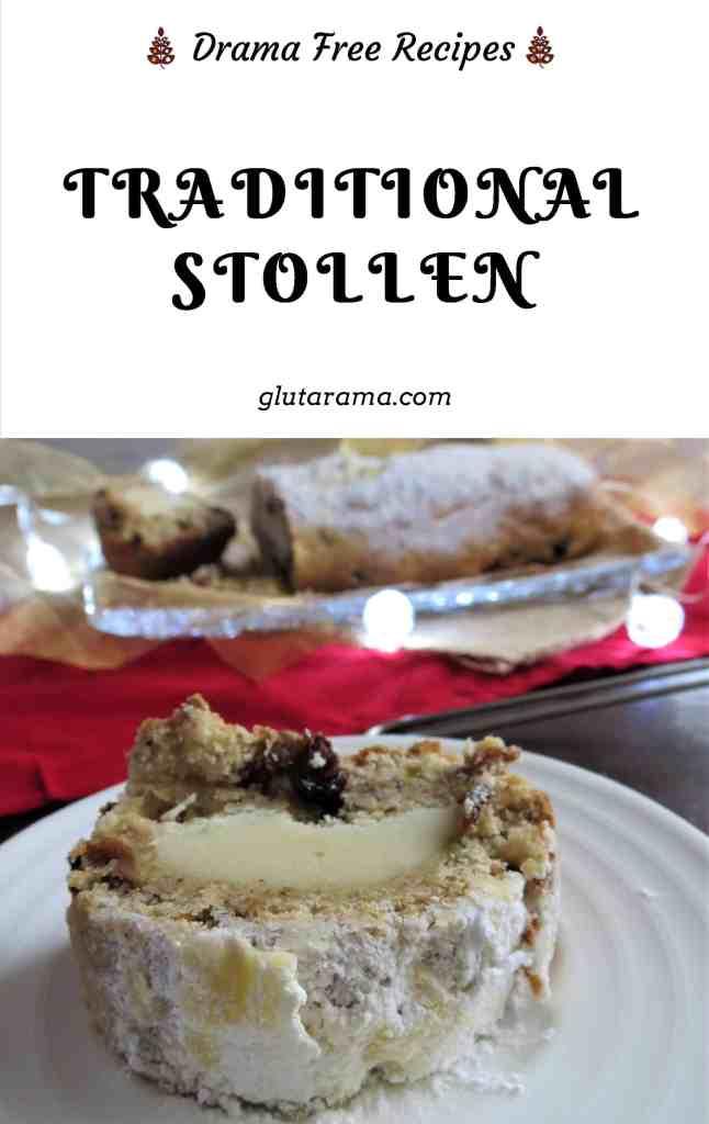 Stollen, gluten free, dairy free and vegan #christmas #holidays #traditional #glutenfree #dairyfree #vegan #eggfree #germanrecipe