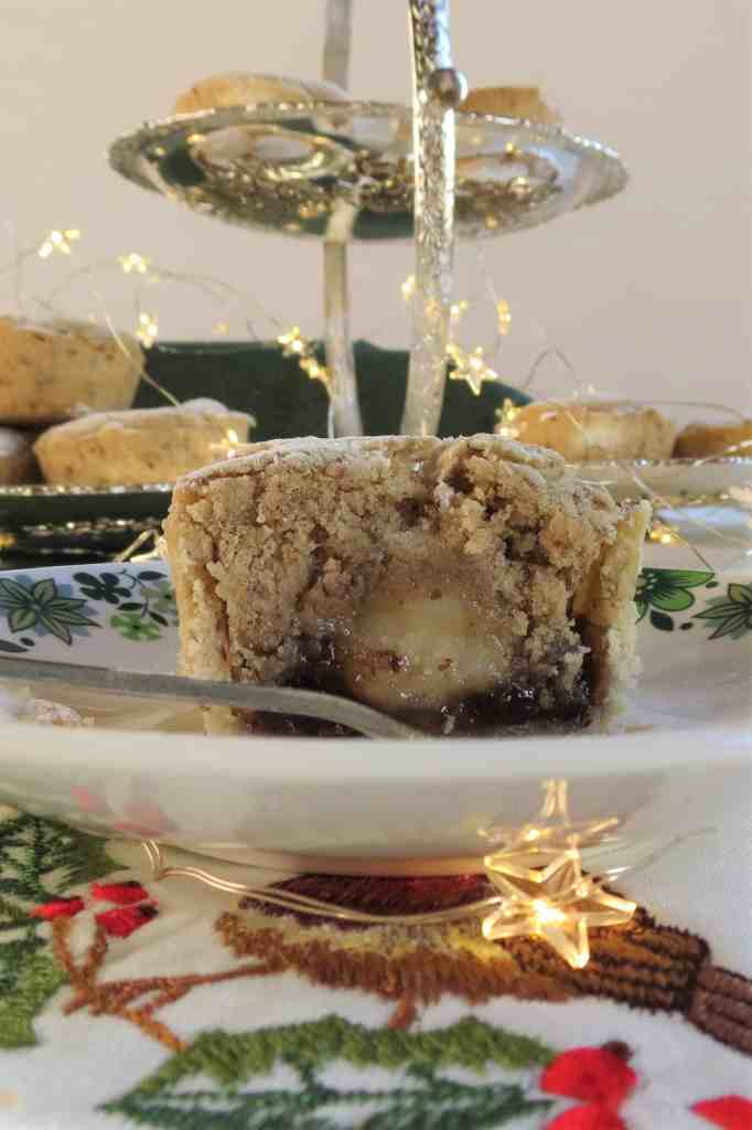 Stollen Mince Pie; gluten free, dairy free and vegan, a delicious way to enjoy mince pies and stollen at the same time. #glutenfree #mincepie #stollen #vegan #freefrom #christmas #christmasrecipe