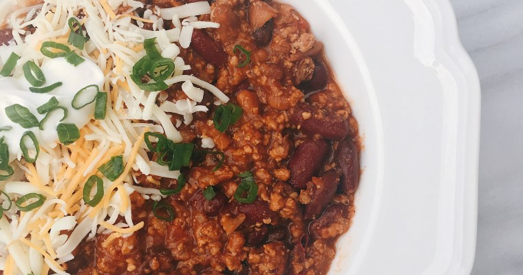 The BEST Homemade Gluten Free Slow Cooker Turkey Chili