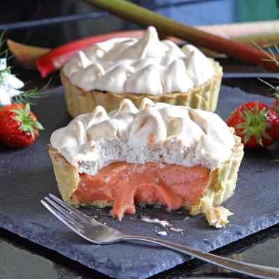 Rhubarb and Strawberry Meringue Pie & the Wonder of Eggs