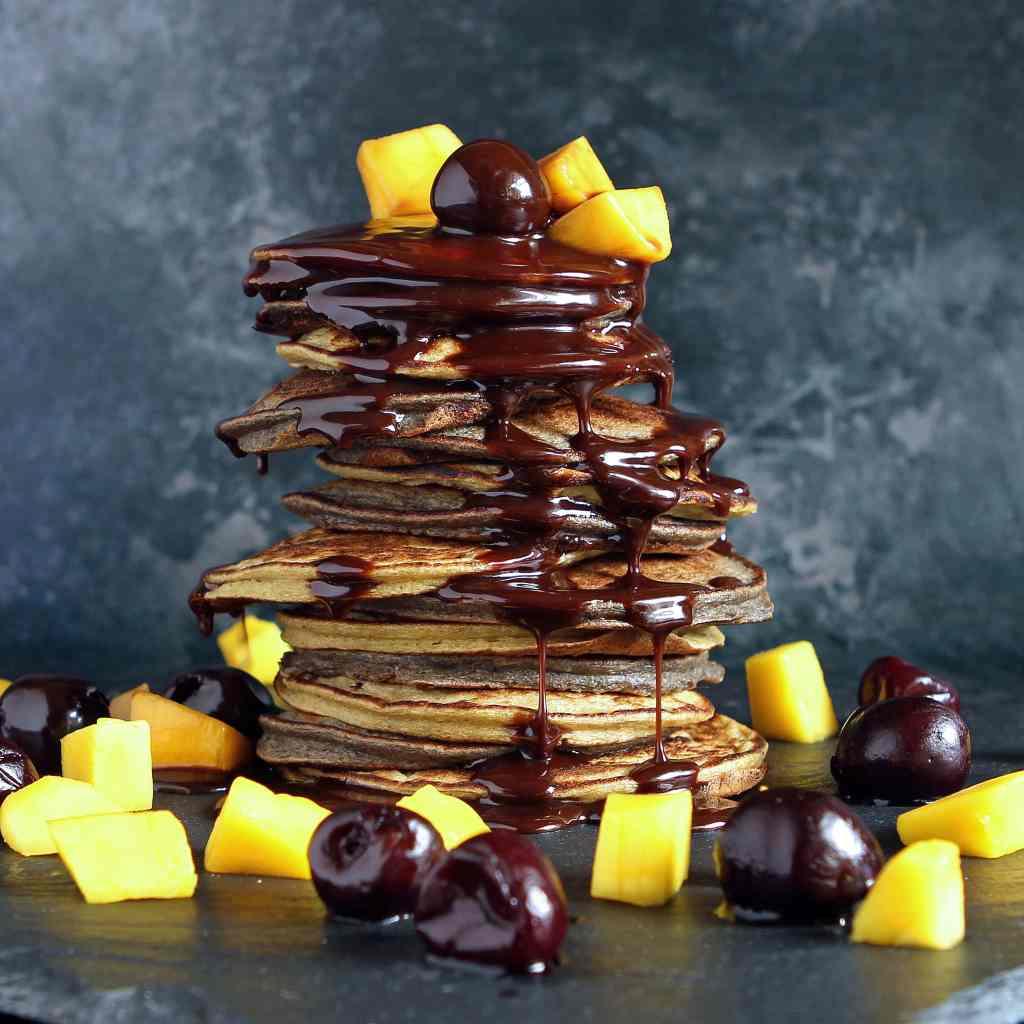 blender-pancakes-mango-cherry