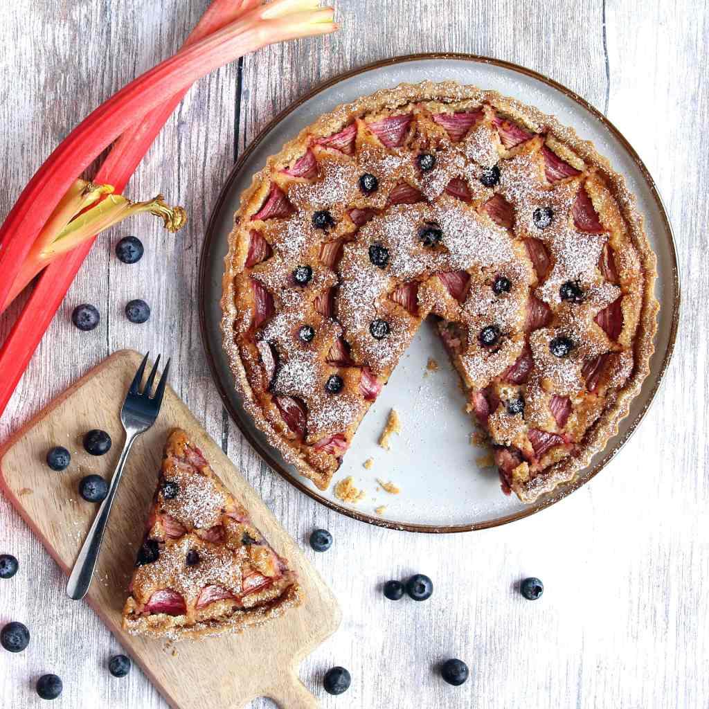 rhubarb-frangipane-tart