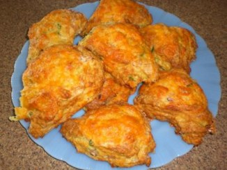 Cheddar Biscuits with Ham