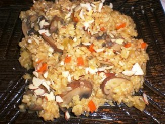 Rice with Almonds and Mushrooms2