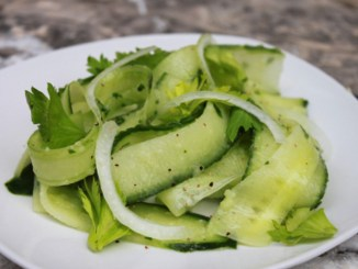 Shaved Cucumber Salad1