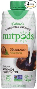 nutpods Dairy-free Coffee Creamer, 4-pack (Unsweetened Hazelnut) from nutpods
