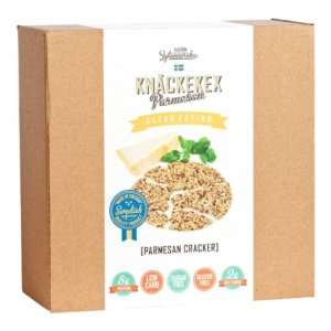 KZ Clean Eating - Parmesan Cracker - 200g (7oz) - Low Carb Gluten Free Sugar Free Non GMO Made in Sweden