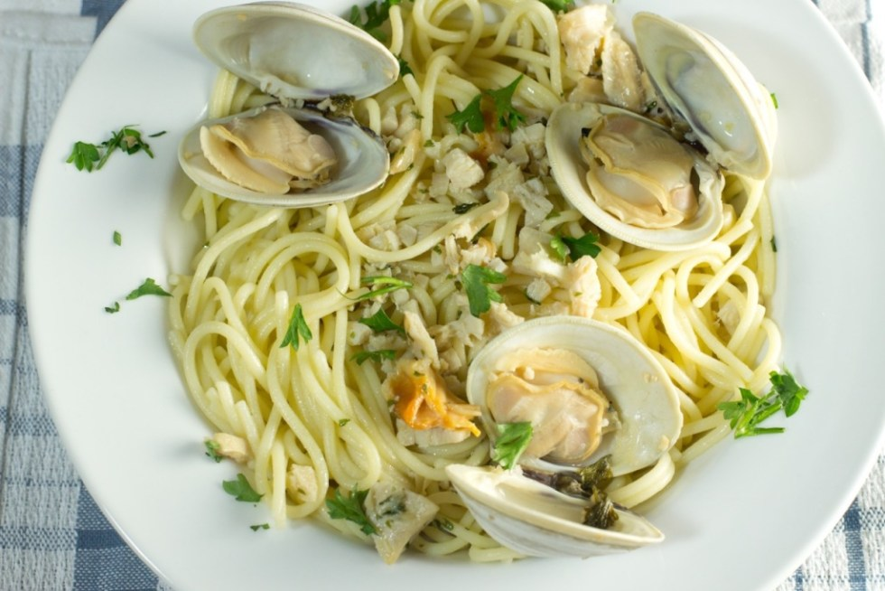 Gluten Free Spaghetti with Clam Sauce