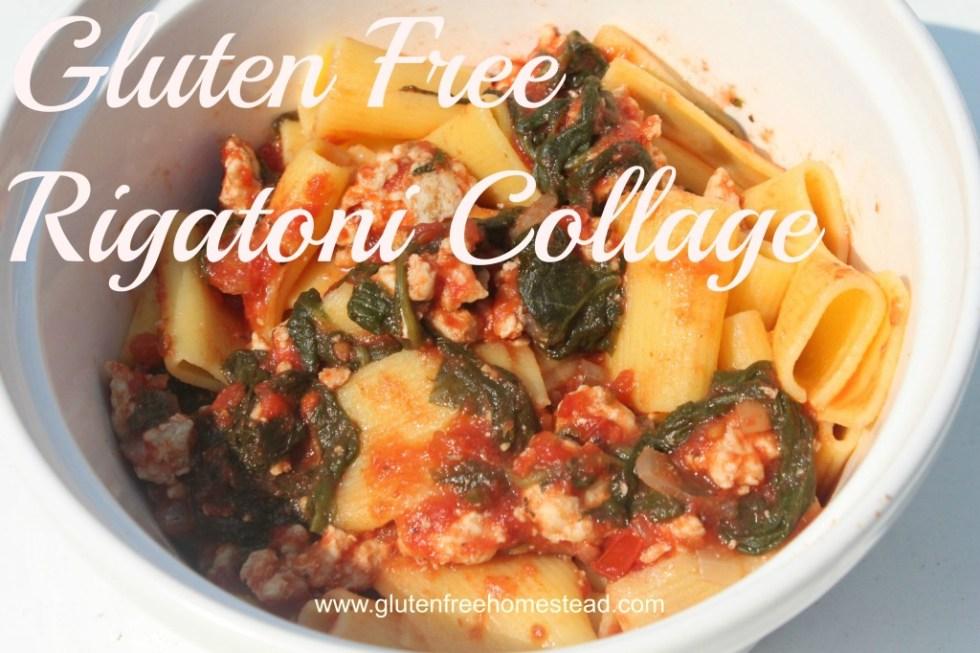 Gluten Free Rigatoni Collage