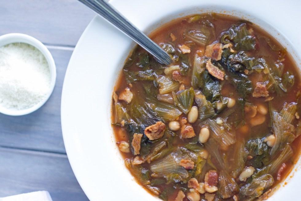 Gluten Free Escarole and Bean Soup