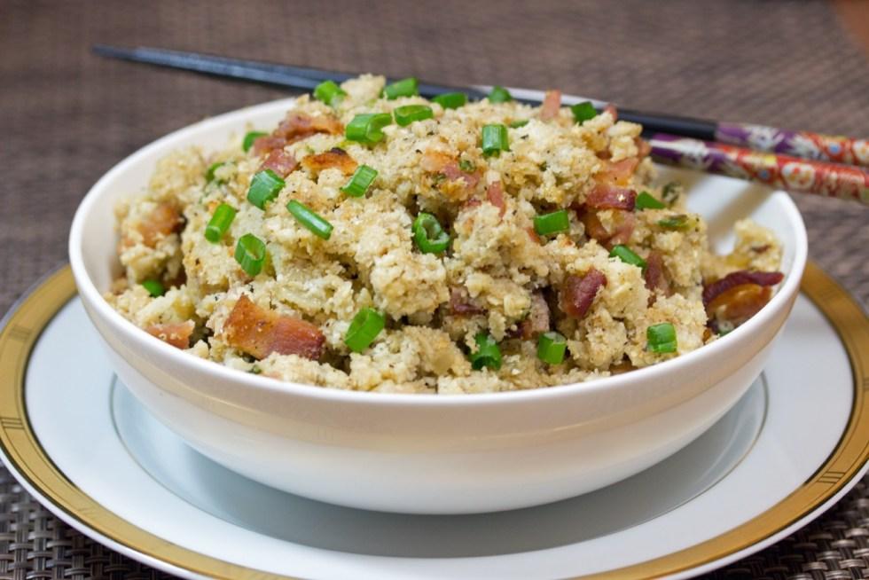 Seasoned Cauliflower Rice with Bacon