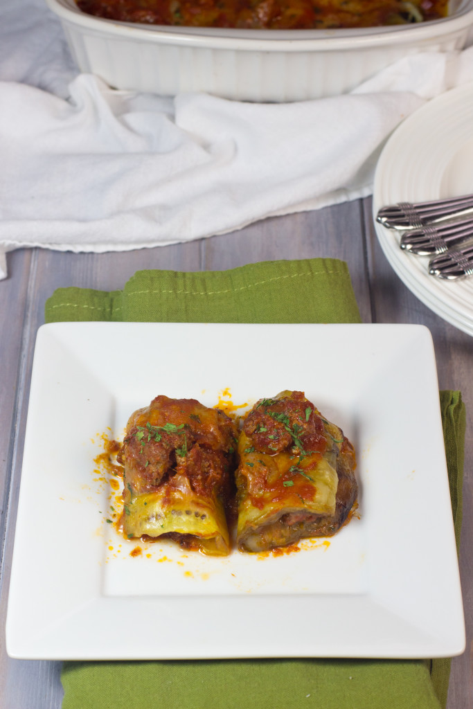 Eggplant Rollatini Bolognese