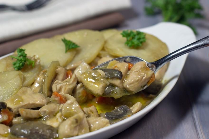 Creamy Chicken, Potato, Casserole, gluten free, paleo