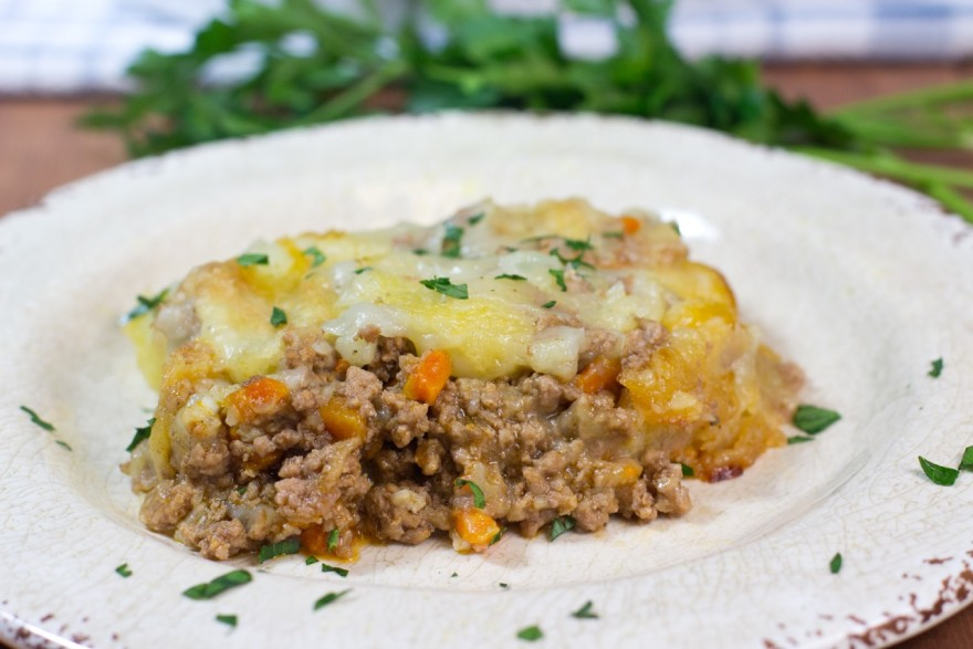 ABSOLUTELY DELICIOUS CLASSIC SHEPHERD'S PIE, paleo shepherd's pie, paleo, gluten free, lamb, creamy mashed potatoes, Red Boat, coconut milk