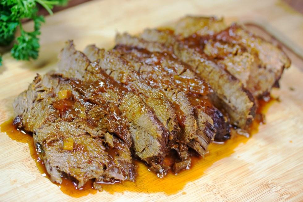 Slow Cooker Beef Brisket With Gluten Free Honey Barbecue Sauce