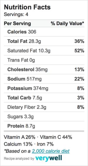 Nutrition-Label-zucchini salad