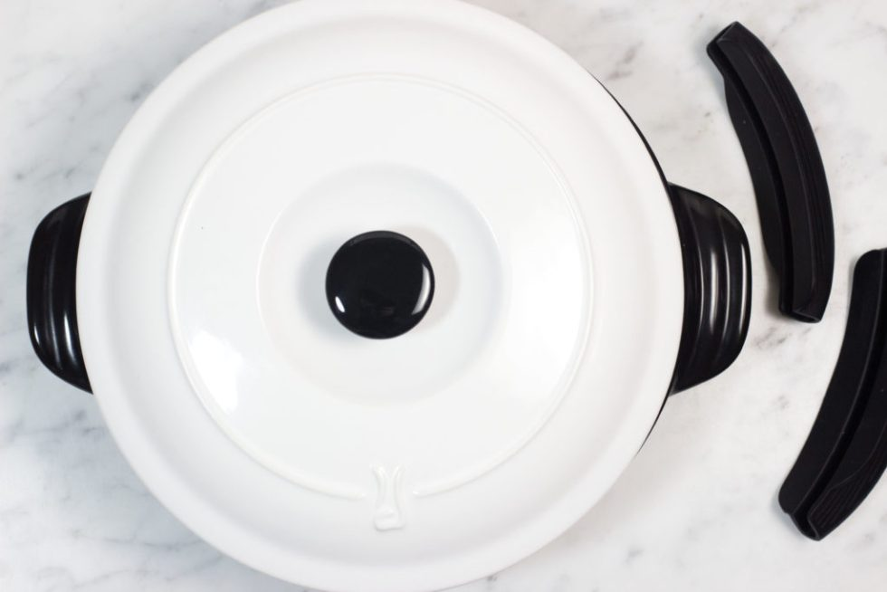 Click on the pin to read Xtrema Braiser review and recipe idea | Braised Steak Roll ups | Healthy Braiser, Skillets, and Pots | Green natural ceramic glaze cookware | Product review | Benefits of Xtrema cookware