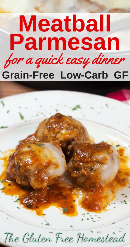 The best 30-minute meatball parmesan casserole | Grain-Free Beef & Pork Meatballs | Gluten-Free Recipe | Low-Carb Recipe | Italian Food | Healthy Comfort Food