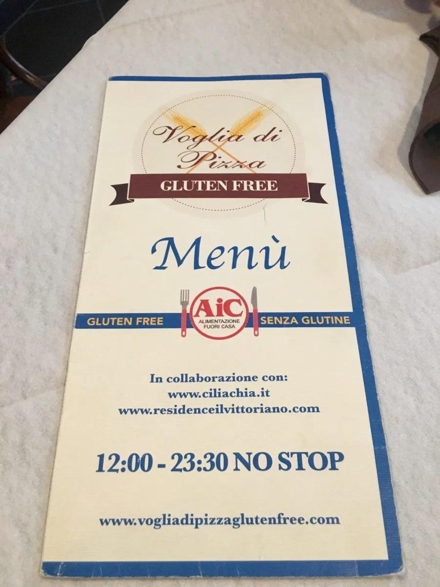 Gluten free Rome Voglia di Pizza