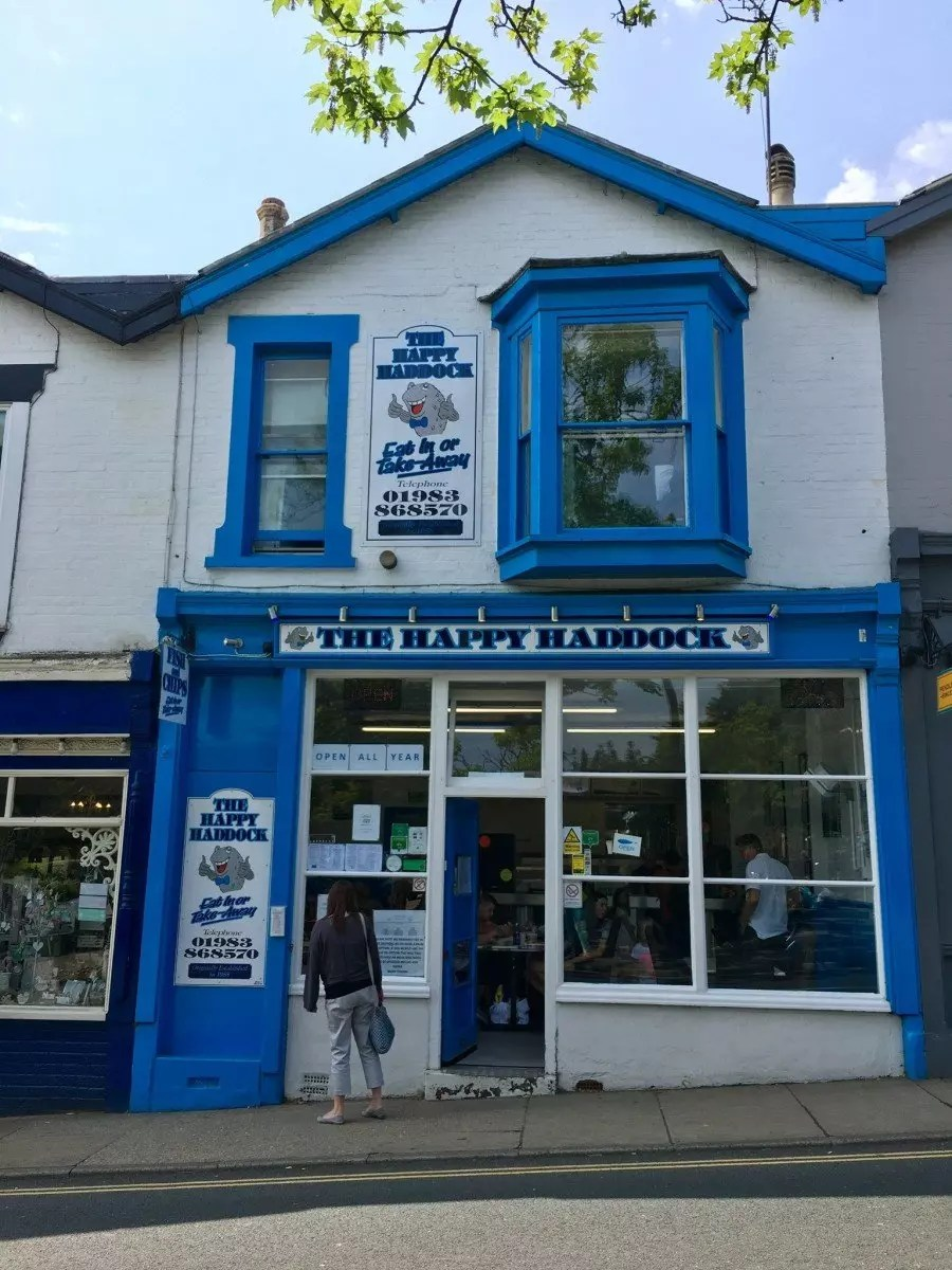 adventures of a gluten free globetrekker Gluten Free Fish & Chips: Happy Haddock, Isle of Wight Gluten Free Travel UK Isle of Wight  gluten free Isle of Wight gluten free fish and chips
