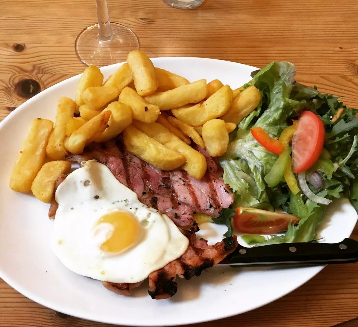 gluten free ham egg and chips Isle of Wight