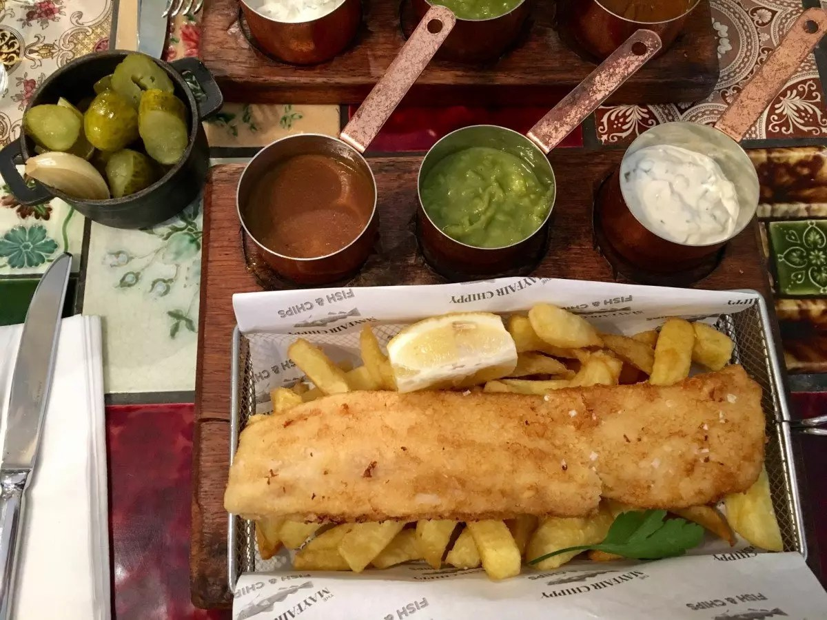 where to find gluten free fish and chips London - The Mayfair Chippy