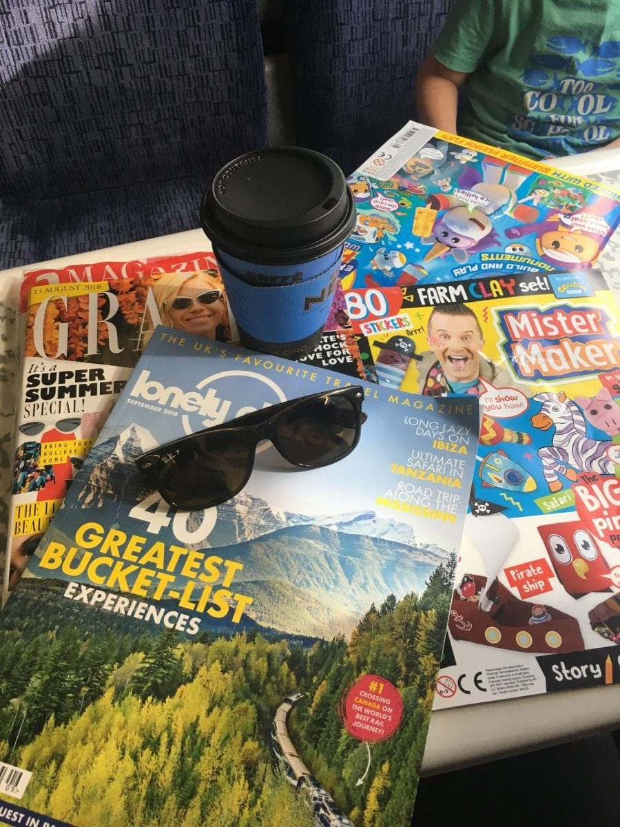 train travel essentials with kids