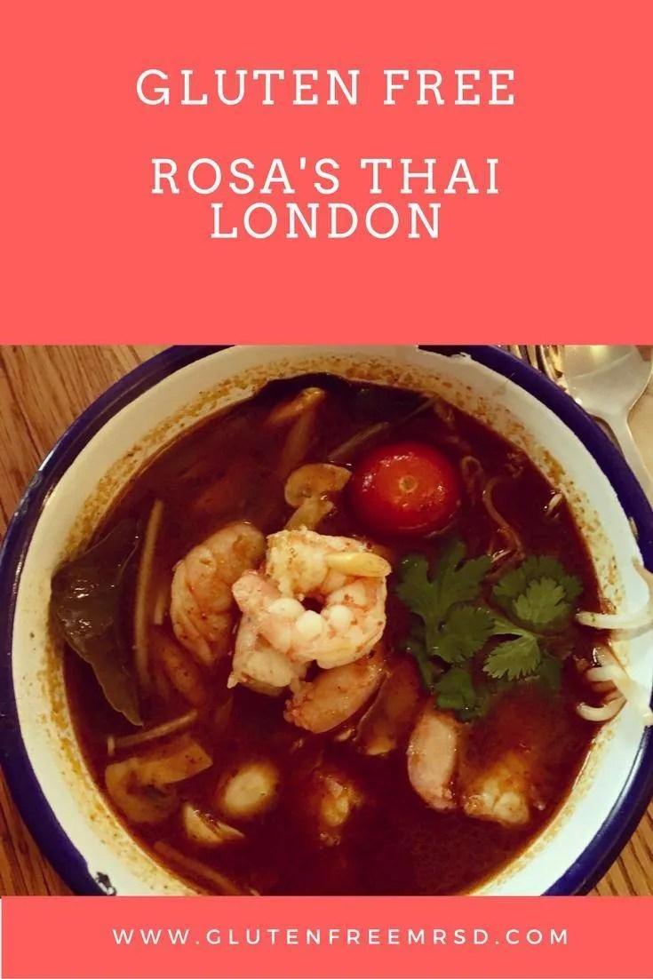 gluten free restaurant London Rosa's Thai