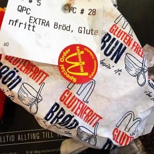 adventures of a gluten free globetrekker Gluten free Gothenburg MacDonalds