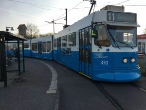 adventures of a gluten free globetrekker Number 11 tram Gothenburg