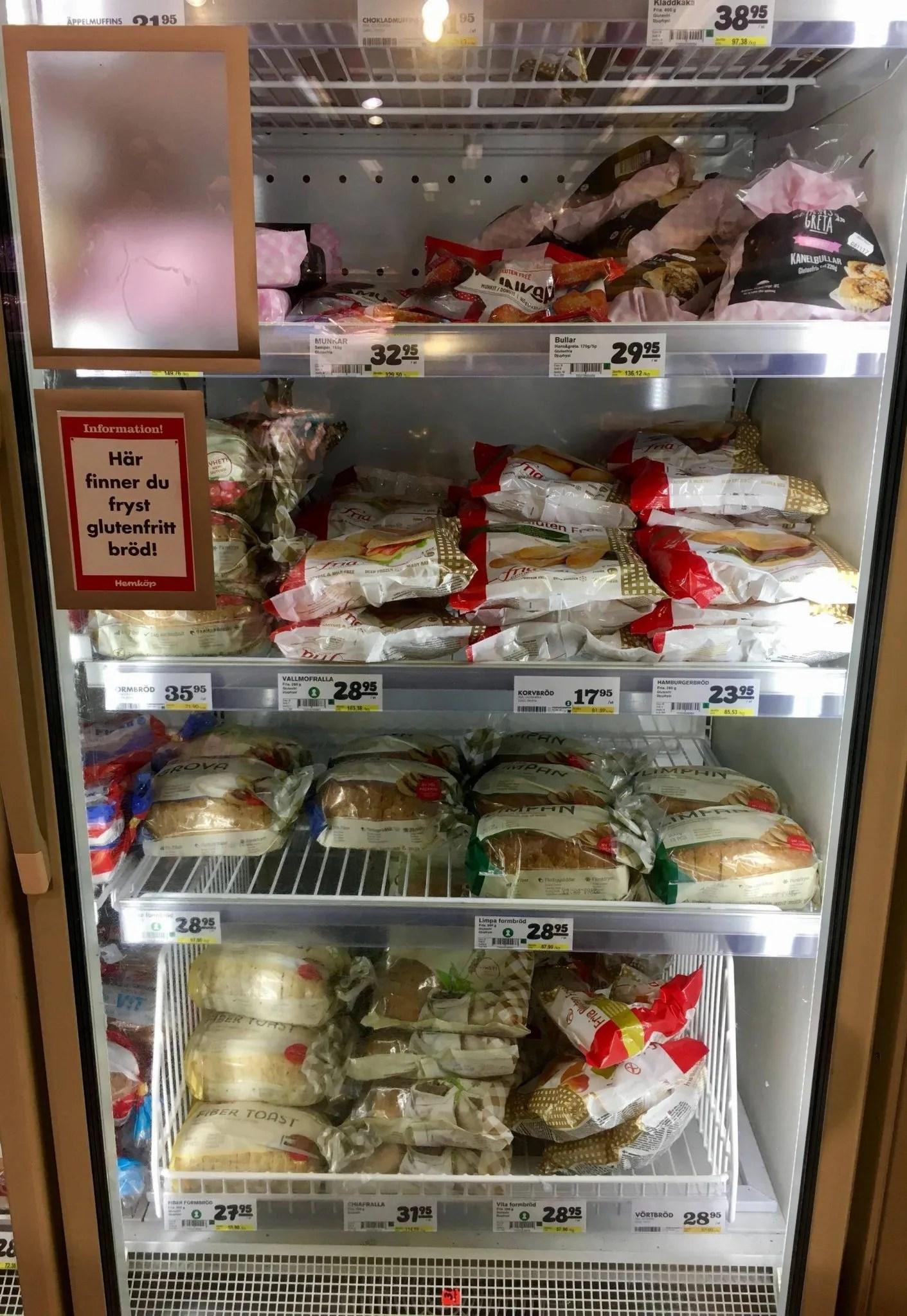 Gluten free Gothenburg supermarket