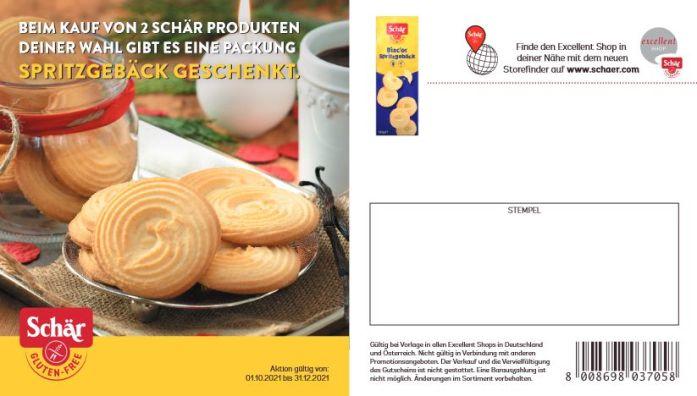 Glutenfreies Spritzgebäck Schär Coupon
