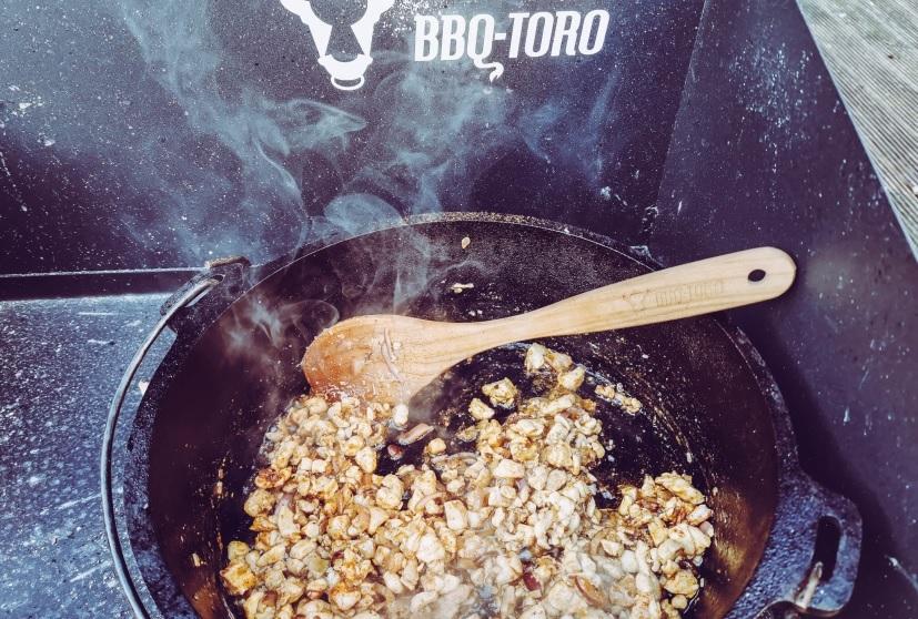 Pollo Fino nach dem Anbraten