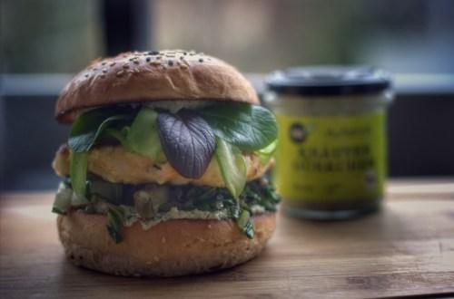 Fischburger mit Mangold