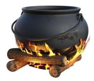 Topf auf dem Feuer