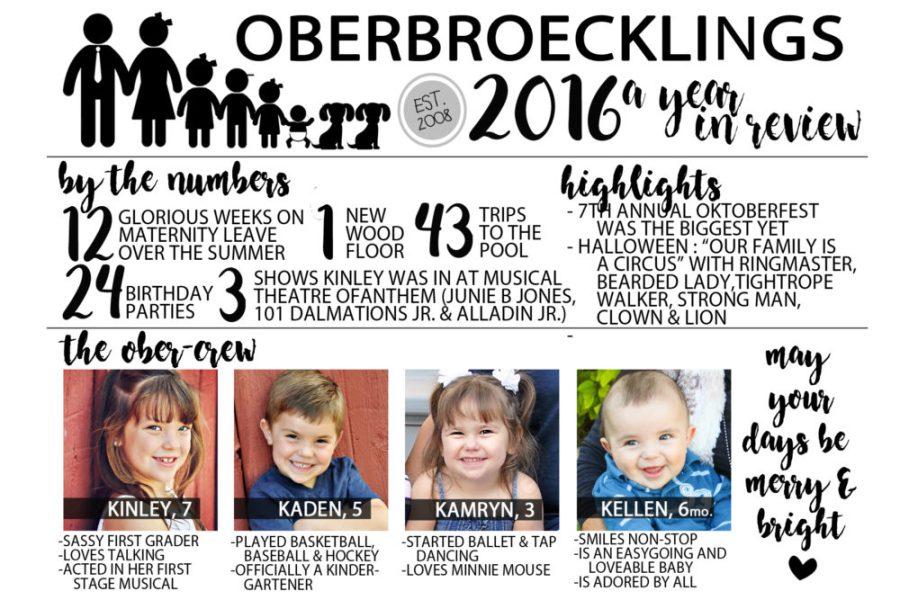 Infographic Christmas Card 2016