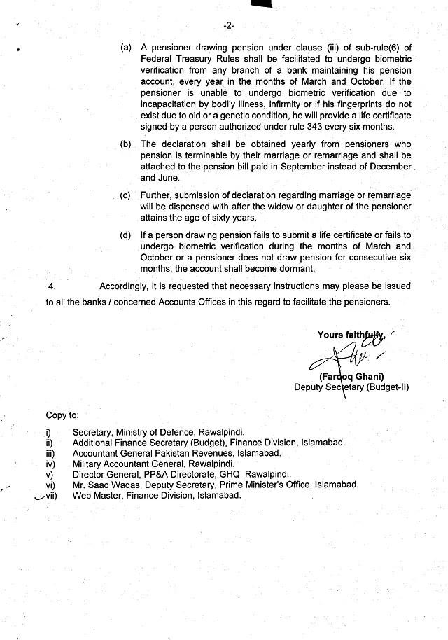 Pension Payment through DCS