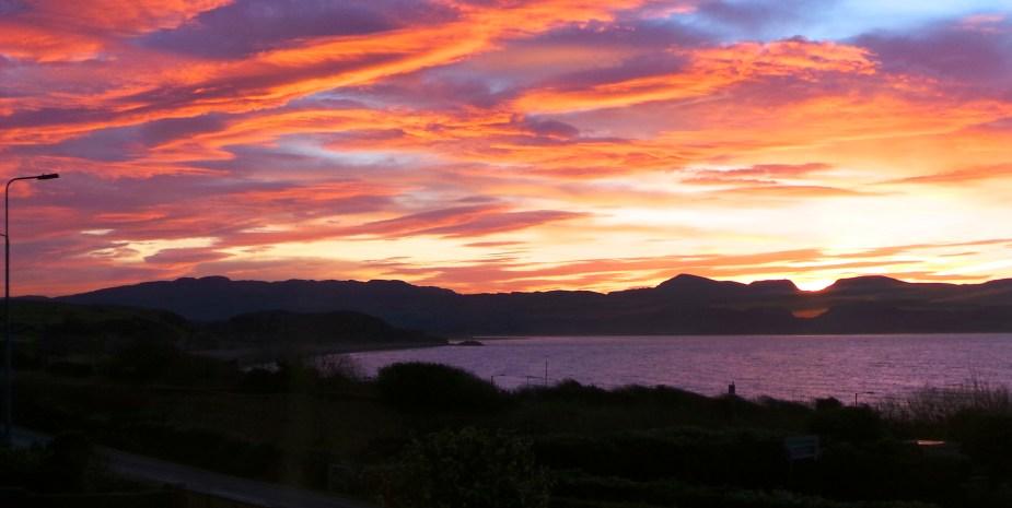 Sunset over Criccieth