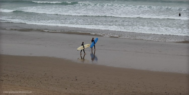 Surfing at Abersoch
