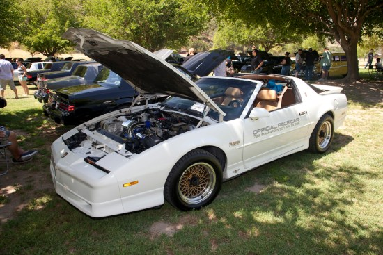 Dave Brecht's 1989 Turbo Trans Am is as rare as they come, and one of only two at the show. He's owned it for 11 years and thanks to a 70K-mile stock shortblock, ported iron heads, a 61-52 turbo, roller cam and other supporting mods, it makes 518hp and 572 lb-ft of torque at the wheels and has run a best of 11.10 @ 119 mph.