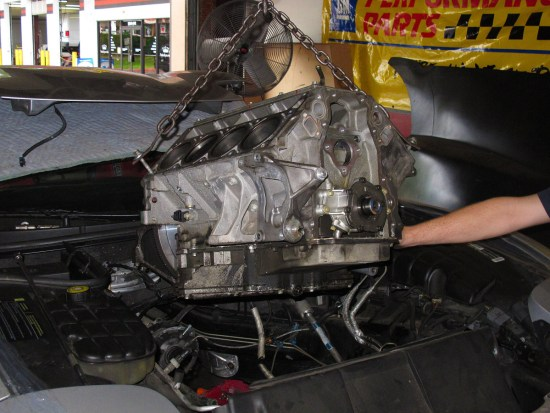 The destination for our converted L92 is a C4 Z06 that's driven primarily at track days and similar events. During an event at Daytona, something let go in the engine and it went KA-BOOM!
