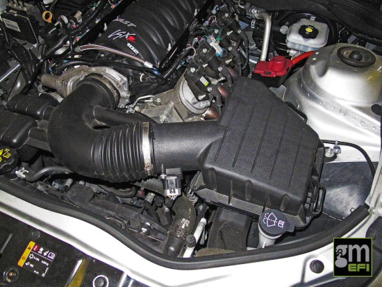 With all the mods, the Camaro was still breathing through its factory air intake system. While these flow pretty good, they leave a lot to be desired in the looks department, and as we found at later, can choke down engine mods.
