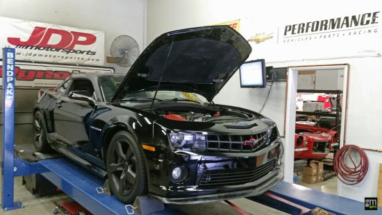 With the Camaro still strapped to the Dynojet chassis dyno, Jordan made another pull to see what sort of increases