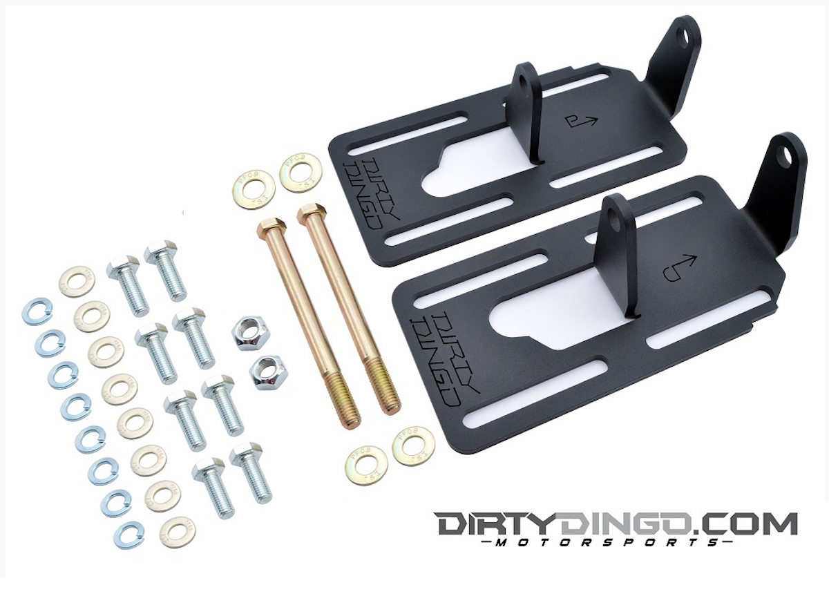 Gm Efi Magazine Tbi Wiring Diagram 4l60e Coupled With Grade 8 Zinc Coated Hardware The Dirty Dingo Engine Mount Brackets Pn 3550c Are Made From Laser Cut 250 Thick 1050 High Carbon Cold Rolled